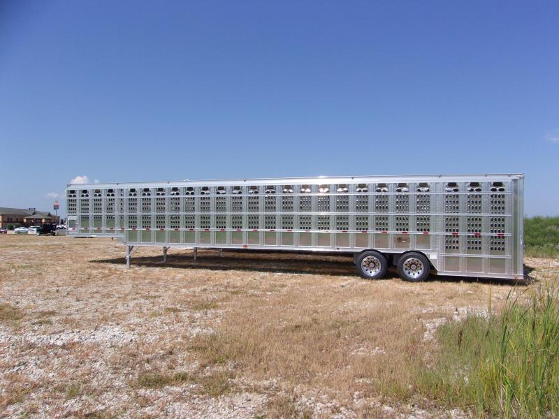 2017 Barrett Trailers Groundload Stock Double Drop