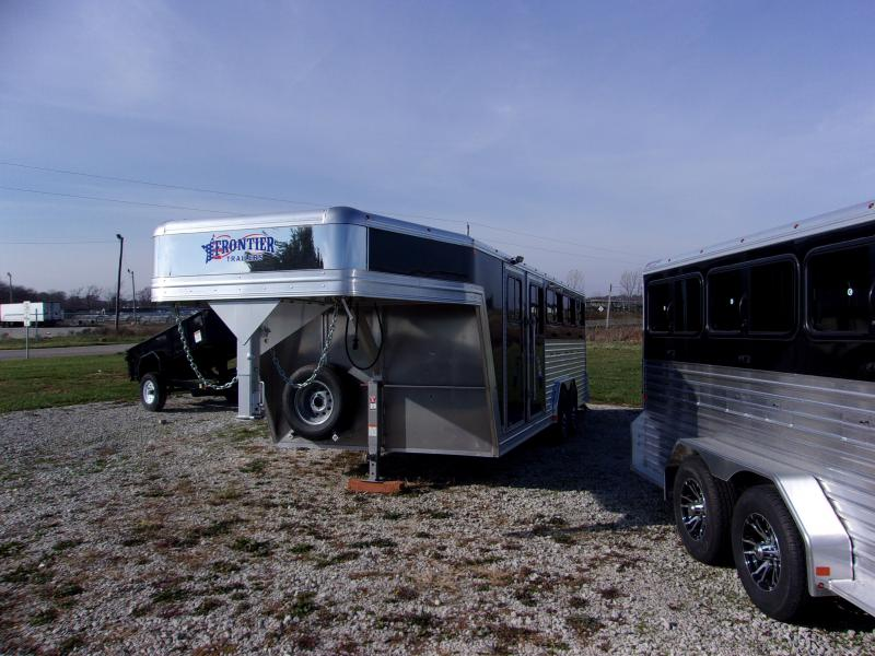2018 8 PIN Frontier Stock Low Pro 8x20DDFW GN Livestock Trailer