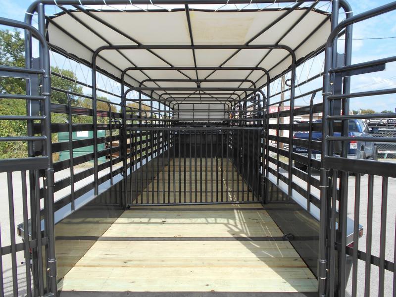 2018 Delco Trailers GOOSENECK BAR TOP 2X7 K AXELS 68'X32' Livestock Trailer