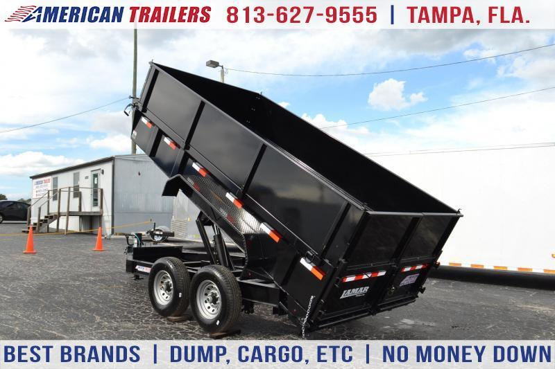 7x14 Lamar Trailers | Dump Trailer [Low Pro with High Sides]