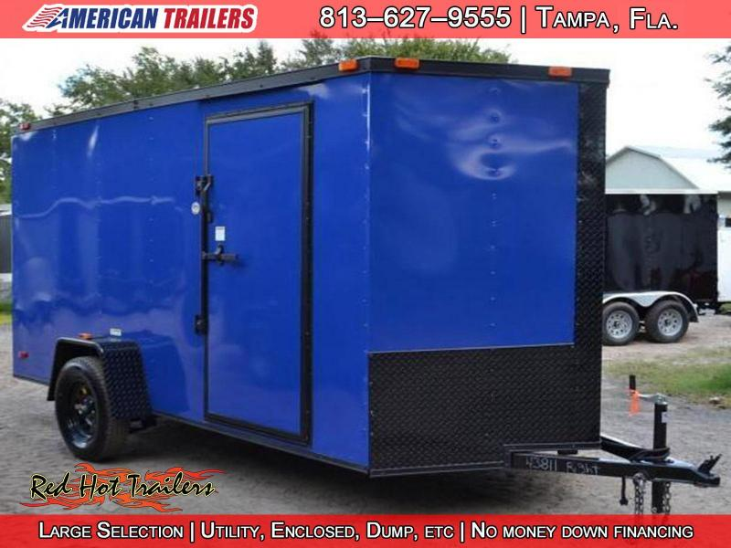 6x12 Red Hot Trailers | Enclosed Trailer [Chevron Blue]