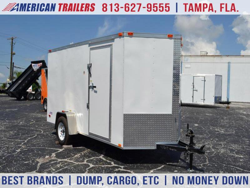 6x12 Red Hot *Enclosed*Trailer*Cargo*Trailers*