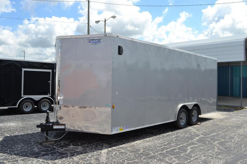 8.5x20 Continental Cargo | Enclosed Trailer [Silver]