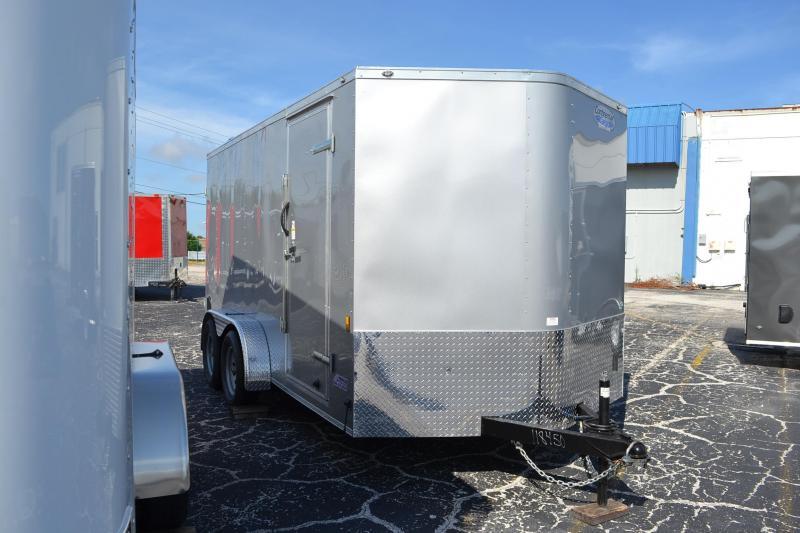 7x14 Continental Cargo | Enclosed Trailer [Silver]