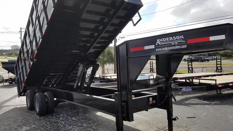 2017 Anderson Manufacturing 10 TON 8 X 20 Dump Trailer