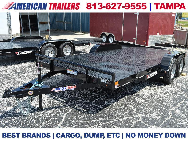7x16 Lamar Trailers | STEEL DECK CAR HAULER | American Trailers ...