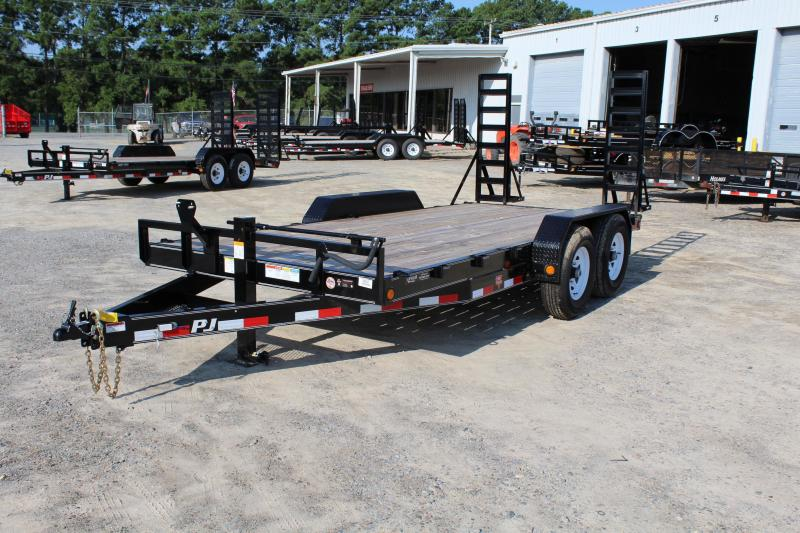 2018 PJ Trailers 16ft CC 14K w/Fold Up Ramps