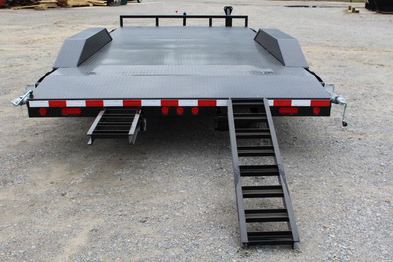 2018 PJ Trailers 20ft B5 10K w/ 2' Dovetail & Slide in Ramps