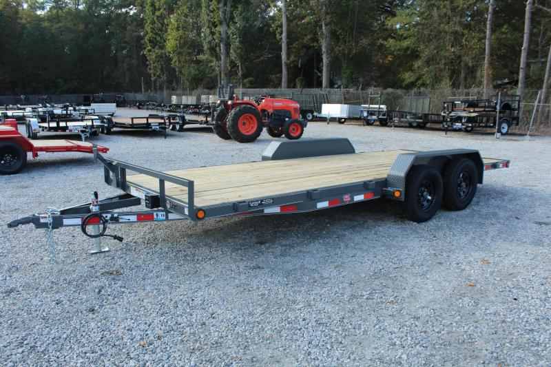 2018 PJ Trailers 18ft C4 7K Car / Racing Trailer w/ Slide In Ramps