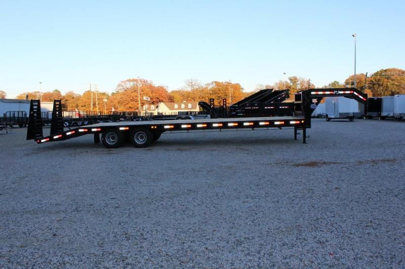 2017 PJ Trailers 32' LD Gooseneck w/ 10K Axles & Flip Over Ramps