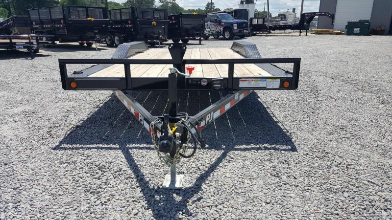2018 PJ Trailers 18ft B5 10K w/2ft Dovetail & Slide in Ramps