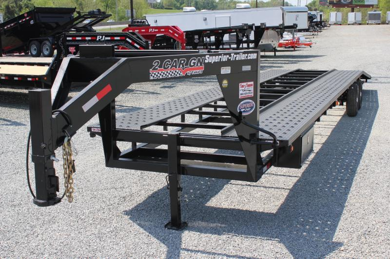 2017 Take 3 40ft Gooseneck 2 Car Hauler Superior Trailers Nc
