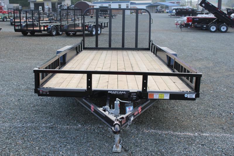 2018 PJ 7x18 UL w/ ATV PKG & 4ft Gate