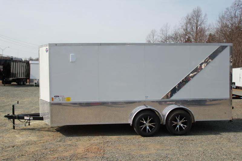 2018 Continental Cargo 7X16 LOADED Motorcycle Trailer
