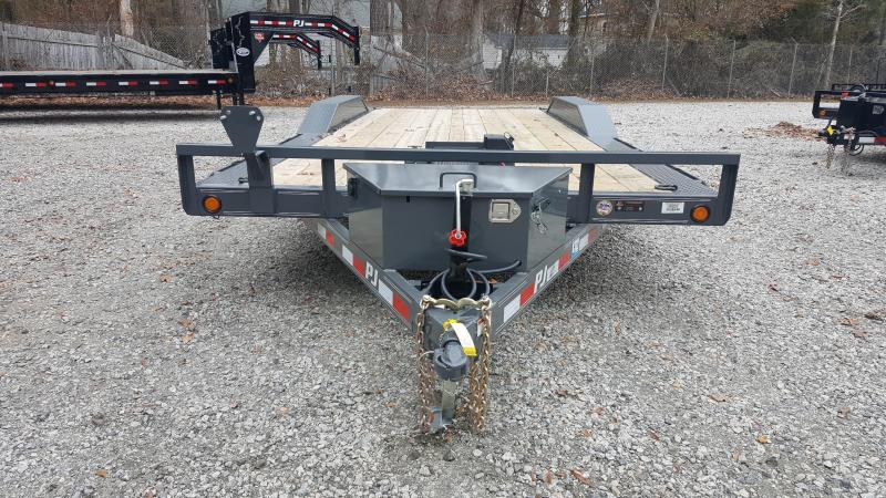 2017 PJ Trailers 20ft B5 10K w/ 2' Dovetail & Slide in Ramps