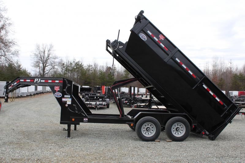 2018 PJ Trailers 7X14 DR Gooseneck Roll Off Dumpster Trailer