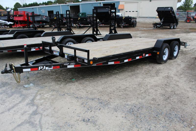 2018 PJ Trailers 20ft CE 10K Equipment Trailer w/ Slide in Ramps