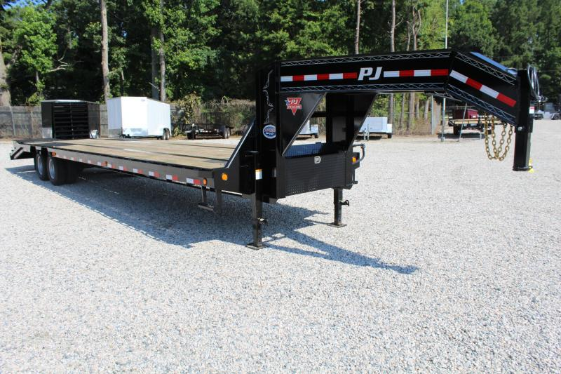 2018 PJ Trailers 36ft L3 24K Low Pro Equipment Trailer