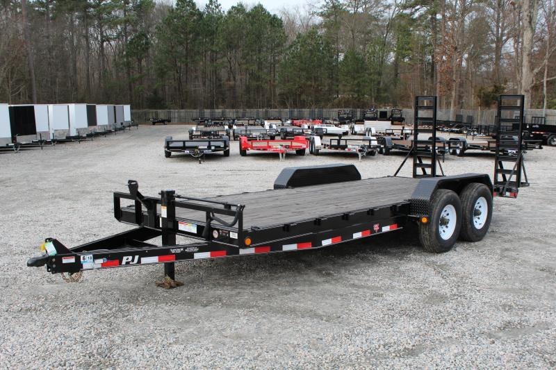 2018 PJ Trailers 20ft CC 16K Equipment Trailer w/ Fold Up Ramps