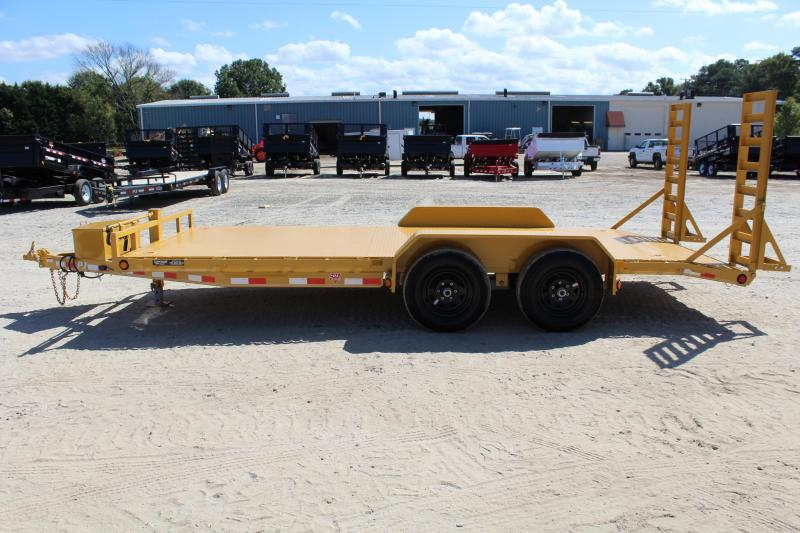 2018 PJ Trailers 18ft CE 10K Equipment Trailer w/ Fold Up Ramps