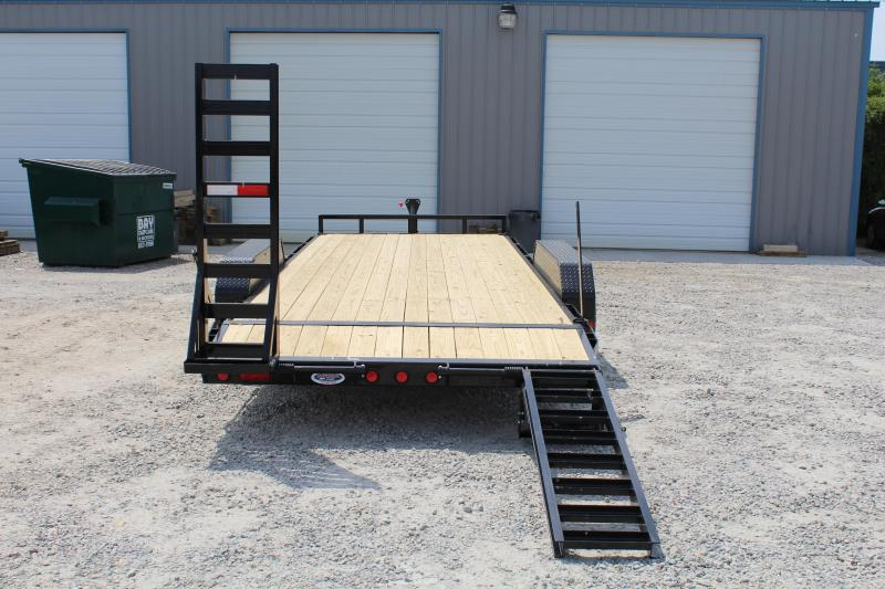 2017 PJ Trailers 20ft CE 10K Equipment Trailer w/ Fold up Ramps