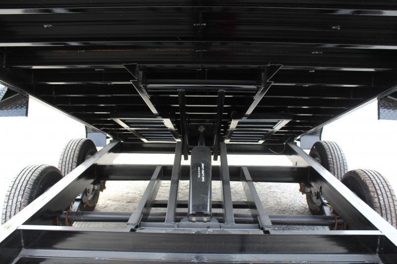 2018 PJ Trailers 7X14 DL 14K  Low Pro Dump w/2ft Metal Side Extensions