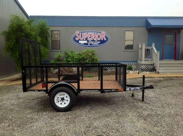 2017 Texas Bragg Trailers 5X8LB 2ft Expanded Sides Utility Trailer w/ Tailgate