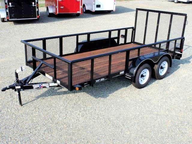 2016 Texas Bragg 14P 2ft Expanded Sides Utility Trailer w/ Tailgate