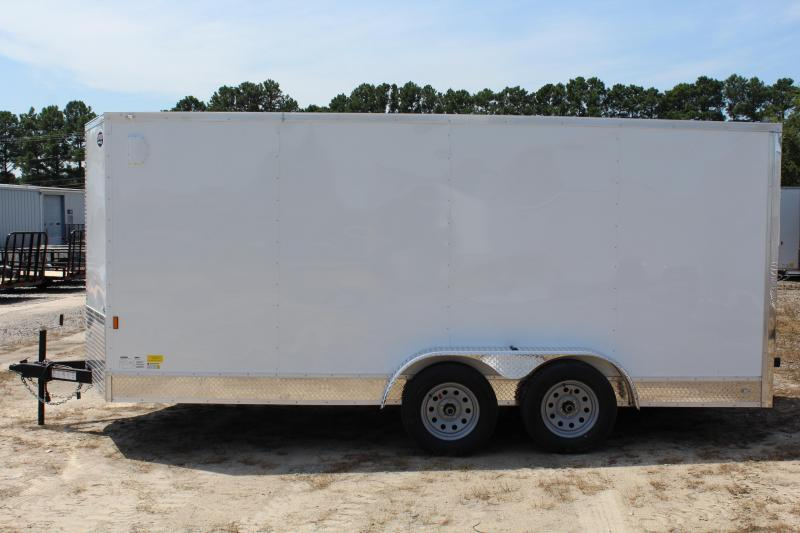 2018 Continental Cargo 7X16 Enclosed Cargo Trailer w/ Ramp