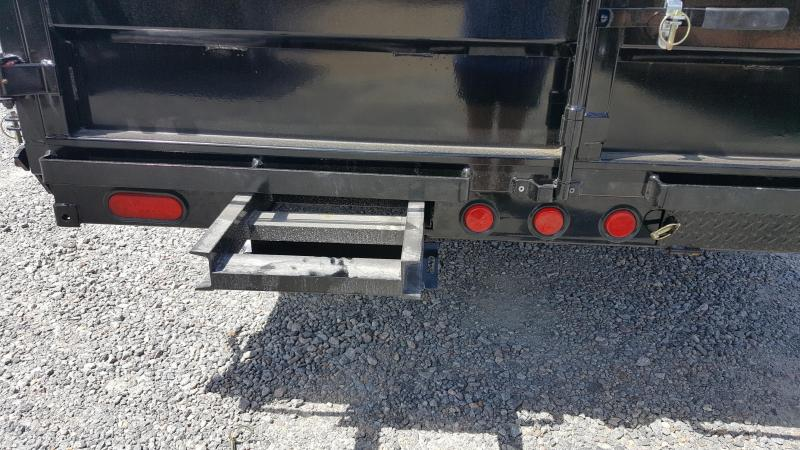 2018 PJ Trailers 7X16 D9 14K Dump w/2ft Side Extensions