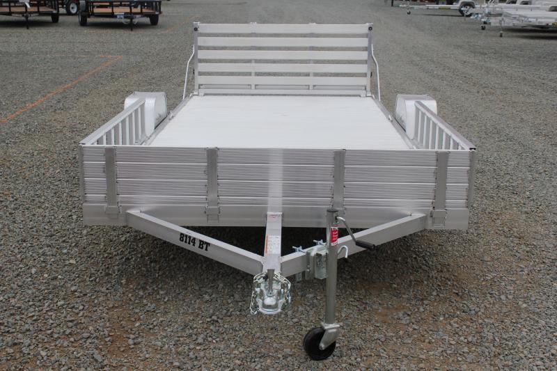 2018 Aluma 8114 BT w/ Side Ramps & Bi Fold Tailgate