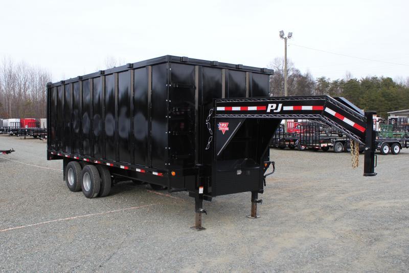 2018 PJ 8x20 DD Gooseneck Dump w/ 6' Sides & 12K Axles