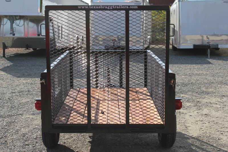 2017 Texas Bragg 4X8LB w/ 2ft Expanded Sides & Gate