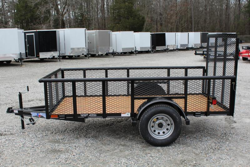 2018 Texas Bragg Trailers 5X10P 2ft Expanded Sides Utility Trailer