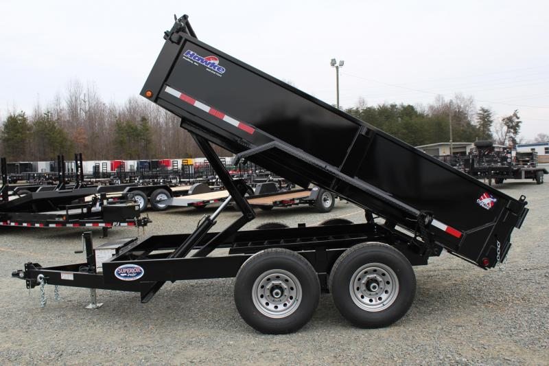 2018 Hawke 7x12 12K Dump w/ Spreader Gate & Ramps