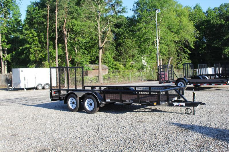 2017 Texas Bragg Trailers 16P w/ Expanded Sides Utility Trailer w/ Tailgate