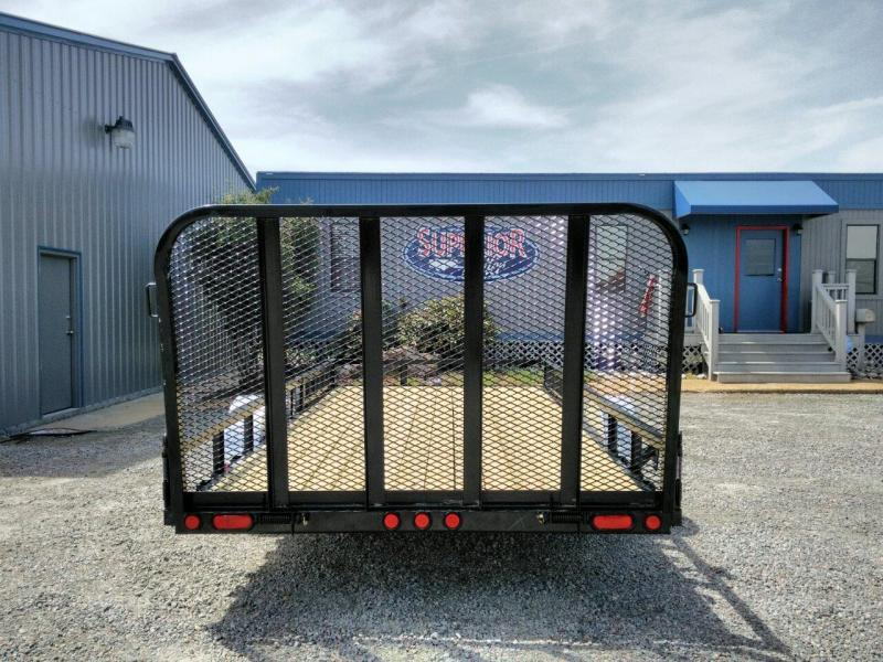 2018 PJ 7X14 U8 w/Side Mount ATV Ramps & Gate