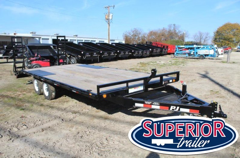 2018 PJ Trailers 20ft L6 10K Deckover w/ Fold Up Ramps