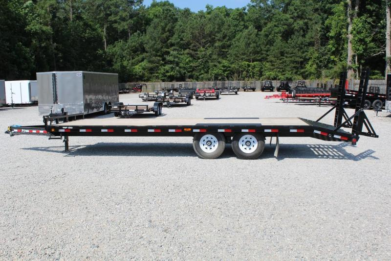 2017 PJ Trailers 24ft F8 14K Deckover w/ Fold Up Ramps