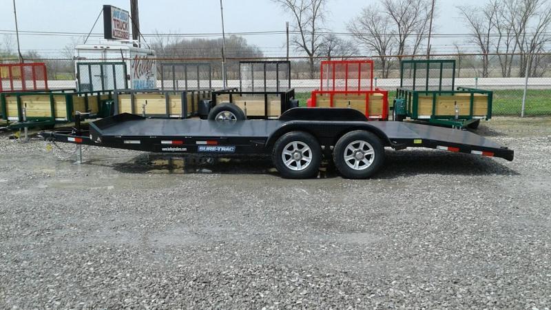 2017 Sure Trac 20 10k Steel Deck Car Hauler Trailer Kelley