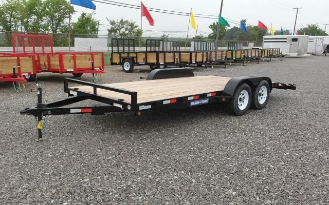 2017 Sure-Trac 18' 7K Wood Deck Car Hauler