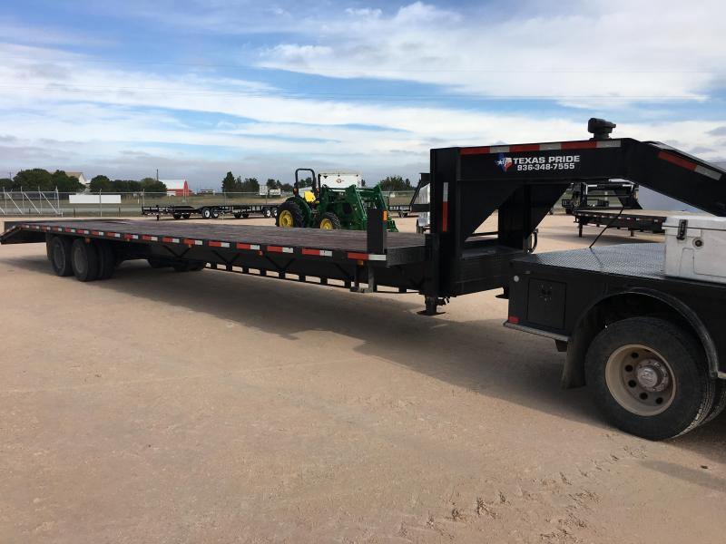 2014 Texas Pride Trailers FT835524KGN Flatbed Trailer