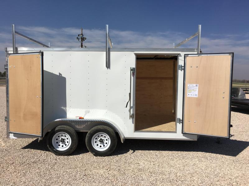 2017 Rc 7 X14 Enclosed Cargo Trailer W Roof Rack Happy