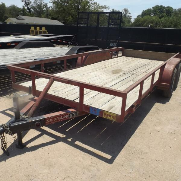 "Rental 38 - Texas Bragg 77"" x 16' Utility Trailer"