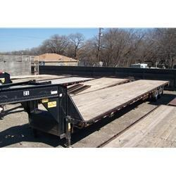 "Rental 21 - C & S 96"" x 40' Straight Deck Trailer"
