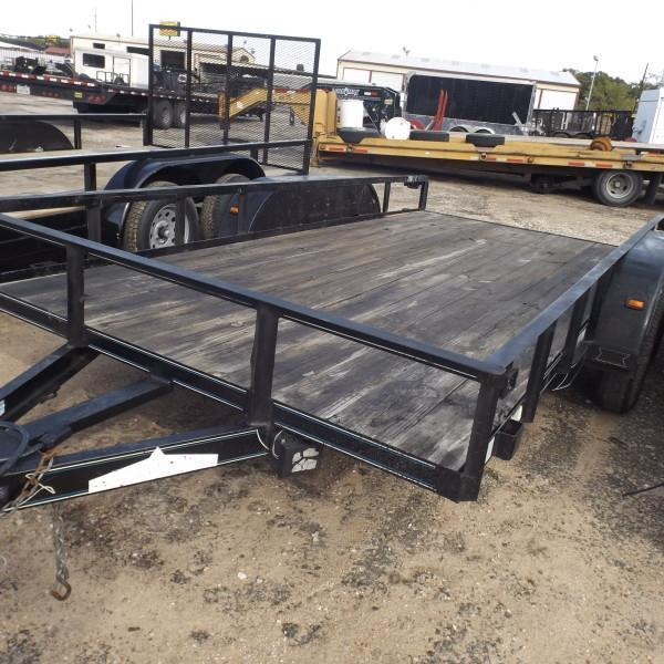 "Rental 62 - Diamond C 77"" x 16' Utility Trailer"