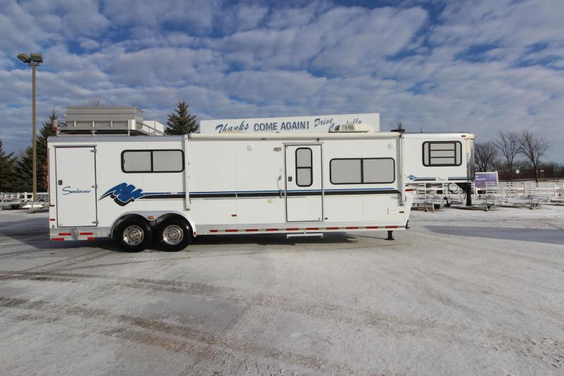 1998 Sundowner Trailers 12 foot garage 14 foot lq Toy Hauler