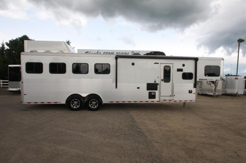 2018 Sundowner Trailers Horizon 4HR LQ Horse Trailer