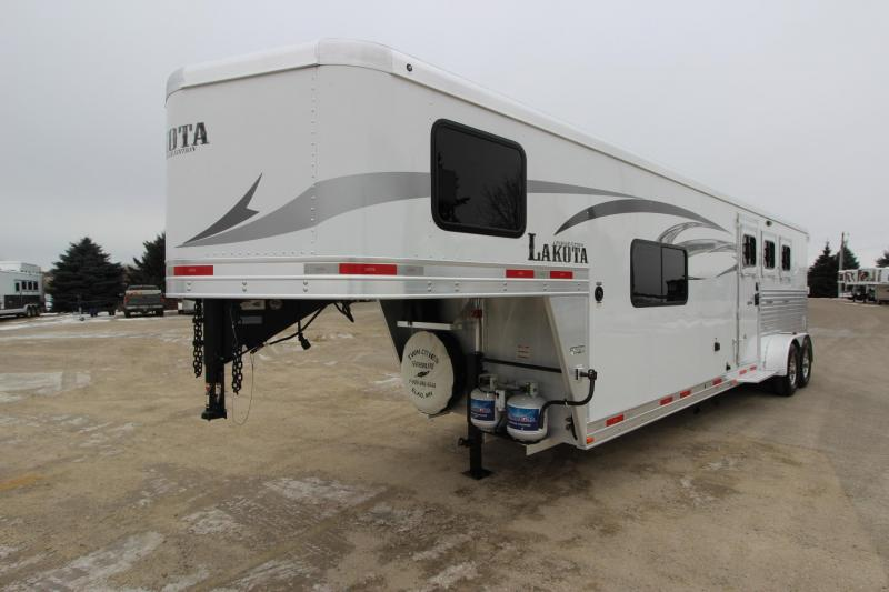 2016 Lakota Corp 3HR GN with 11' LQ Horse Trailer