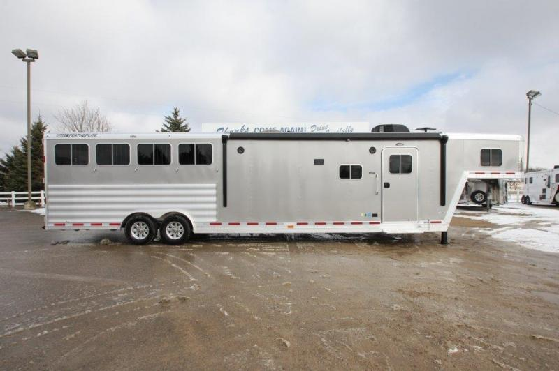 "2016 Featherlite 4 horse with 15'5"" LQ w/Slide Out"